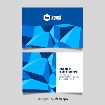 抽象的な多角形の名刺テンプレート