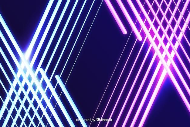 グラデーションと明るいステージライトの背景