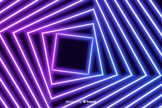正方形のフローステージ明るい背景
