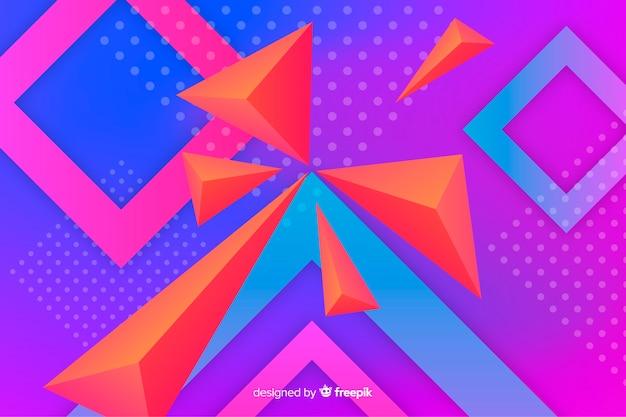 カラフルな幾何学的図形の背景デザイン