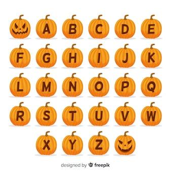 Хэллоуин тыква алфавит