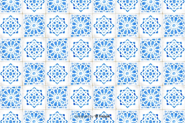 Элегантный акварельный мозаичный фон