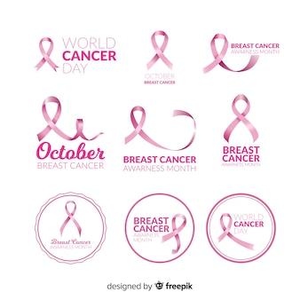 現実的な乳がん啓発バッジコレクション