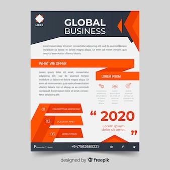 Абстрактный яркий бизнес флаер шаблон