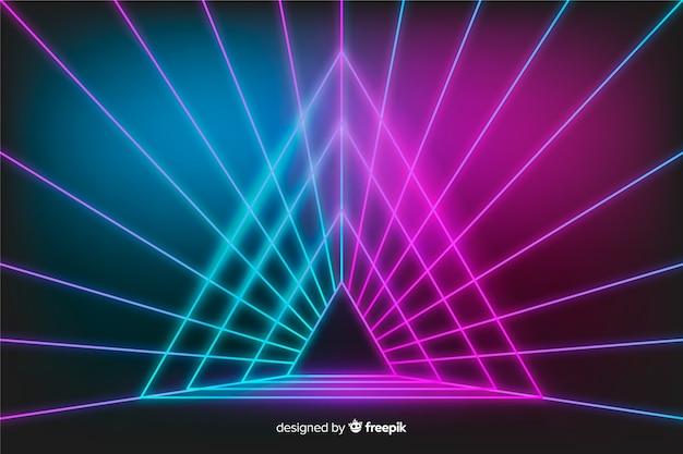 舞台照明の反射の背景