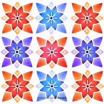 Красочный цветочный орнамент фон