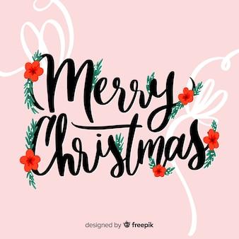 メリークリスマスレタリングイブの装飾
