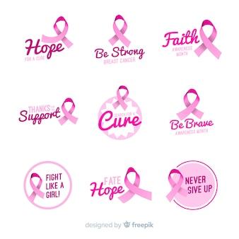Реалистичная коллекция меток осведомленности рака молочной железы