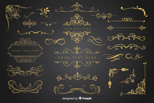 黄金の飾りコレクション