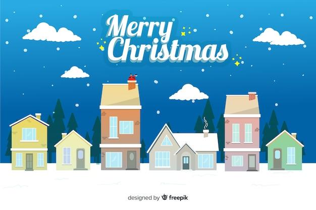 フラットクリスマス背景お祝い