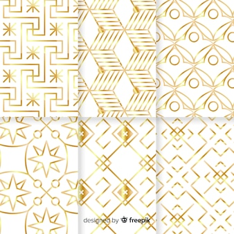 幾何学的な高級パターンコレクション