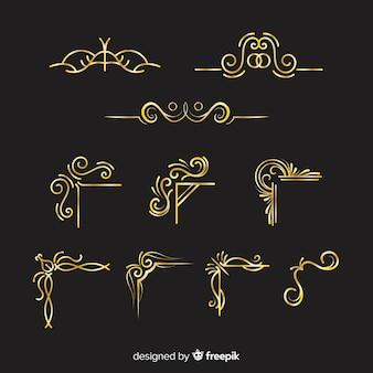Коллекция золотых бордюров