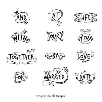 Ручной обращается свадебный лозунг