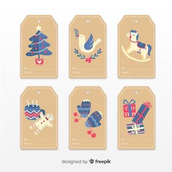 手描きクリスマスバッジコレクション