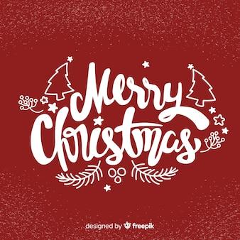 メリークリスマスレタリングハッピーホリデー