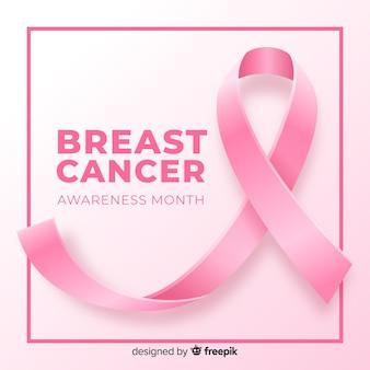 乳がん啓発のための現実的なリボン