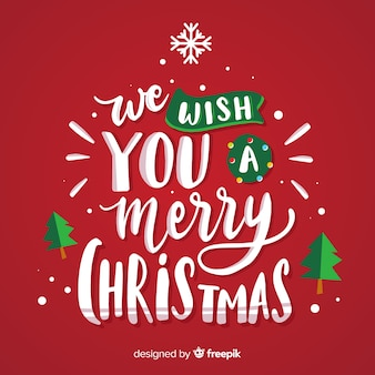 メリークリスマスレタリングを願っています