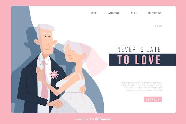 Свадебная посадочная страница с парой