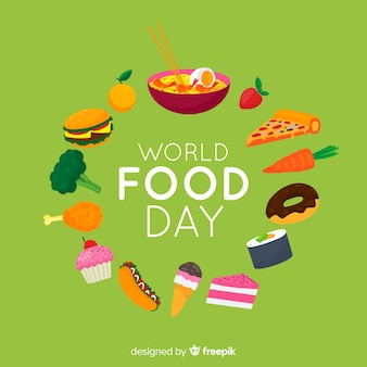 世界の食の日のフラットなデザイン