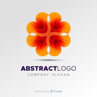 カラフルなグラデーションの抽象的なロゴのテンプレート