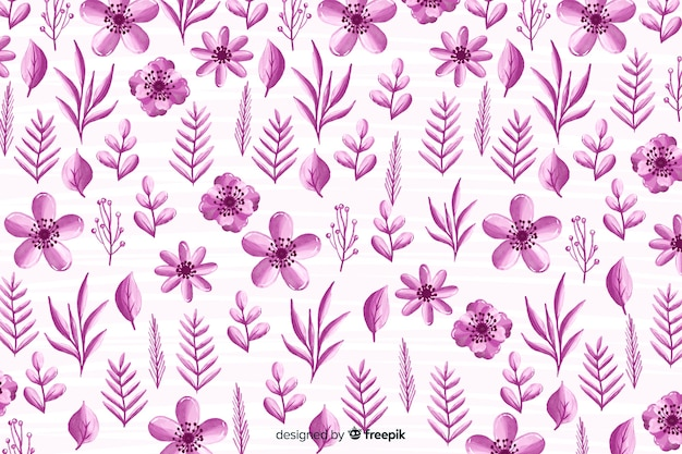 水彩の単色の花の背景