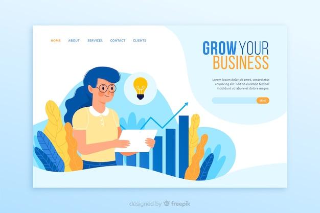 ビジネスのランディングページのデザイン