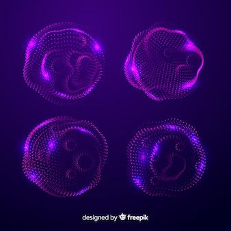 抽象的な粒子形状のセット