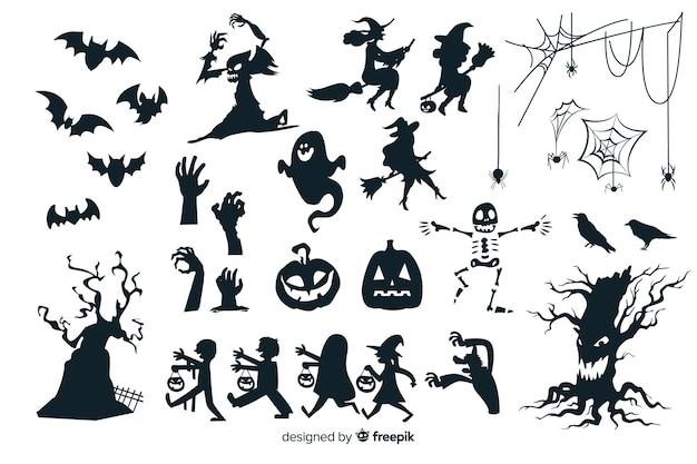 Коллекция хэллоуин силуэт