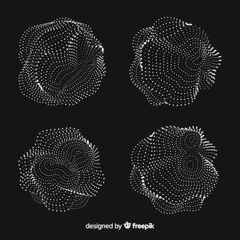 抽象的な粒子形状パック