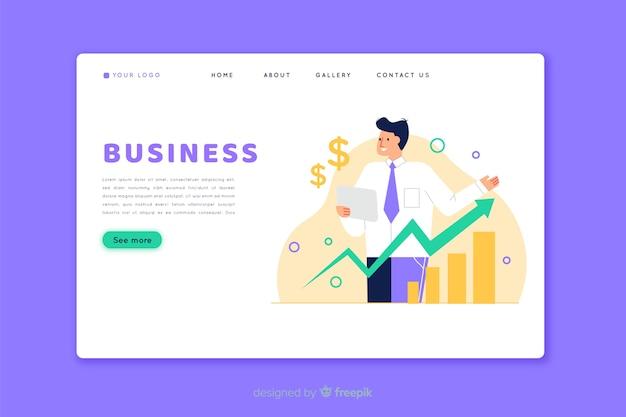 ビジネスのランディングページのホームページ