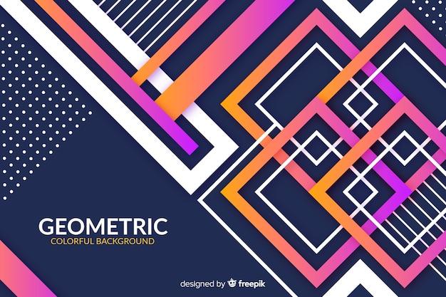 Красочные геометрические модели градиентный фон