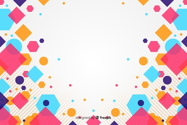 カラフルな正方形と抽象的な背景