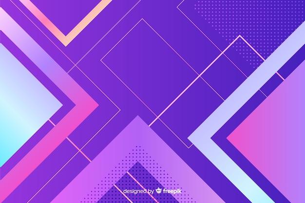 幾何学図形をカラフルな背景