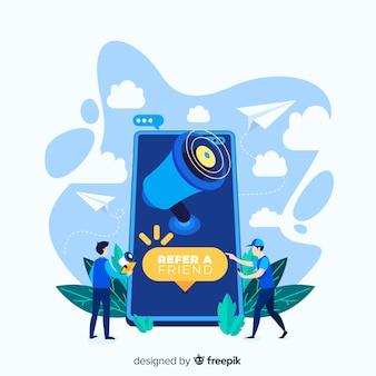 Приведи концепцию друга с мегафоном