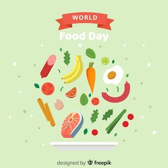 Всемирный день еды в плоском дизайне