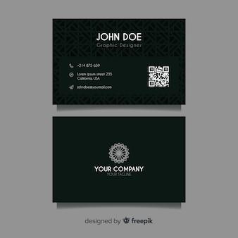 Абстрактный темный шаблон визитной карточки