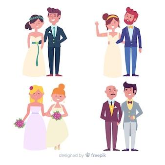 Плоская свадебная пара