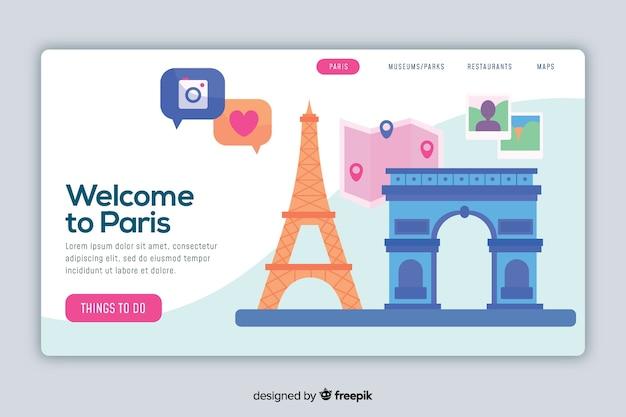 Добро пожаловать на целевую страницу парижа