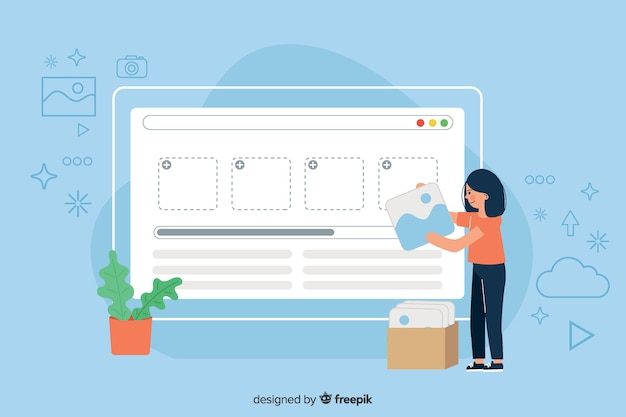 Загрузка концептуального изображения для целевой страницы