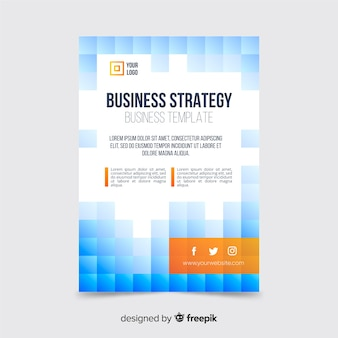 Геометрический абстрактный бизнес флаер шаблон
