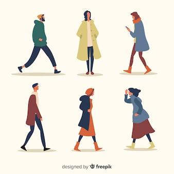 Осенний дизайн коллекции одежды