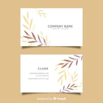 Шаблон цветочные элегантные визитки