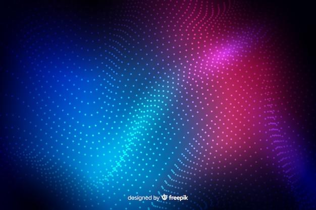 輝く粒子の抽象的な背景