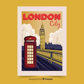 Ретро рекламный плакат лондонского шаблона