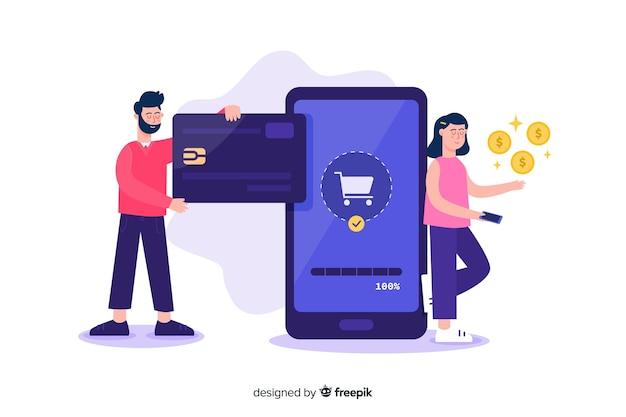 リンク先ページのクレジットカード支払いの概念