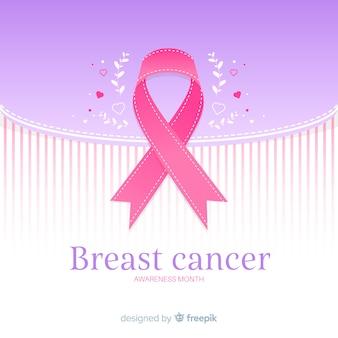 Розовая лента символ рака молочной железы