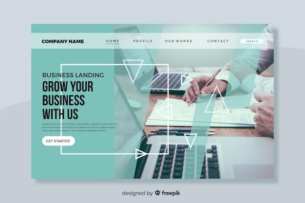 写真でビジネスのランディングページを拡大する