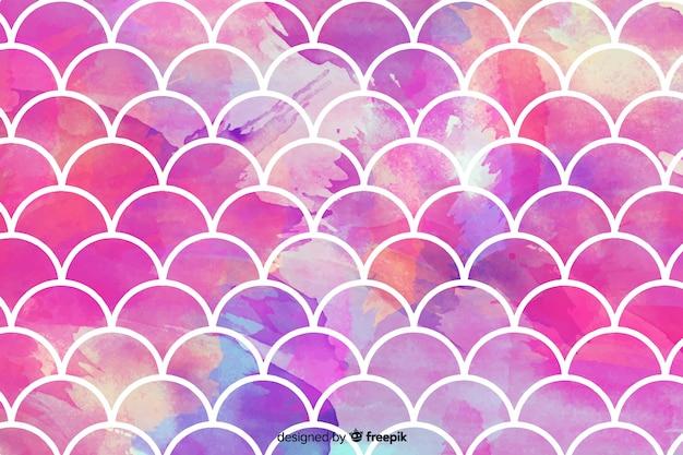 抽象的なピンクの水彩モザイクの背景