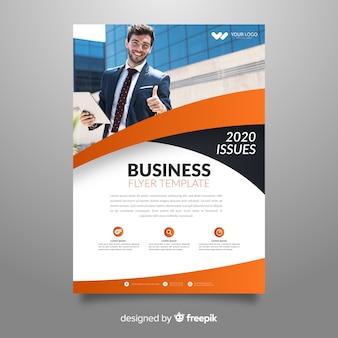 Абстрактный бизнес флаер с шаблоном изображения
