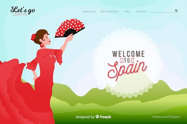 Добро пожаловать на целевую страницу испании